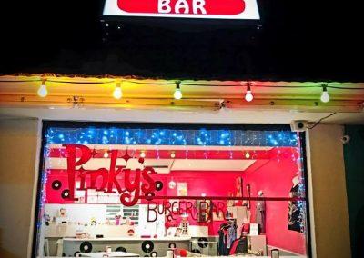 _Pinkys burger bar backlit sign