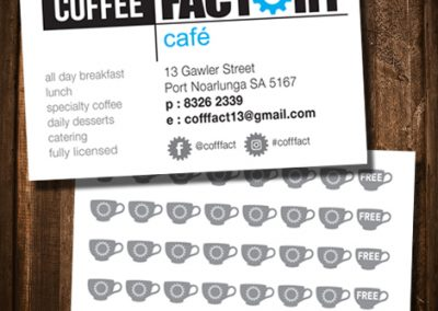 Coffee Factory coffee card loyalty card printed card design marion
