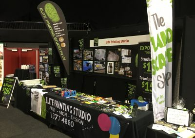 Food expo pic pull-up a-frame signage adelaide