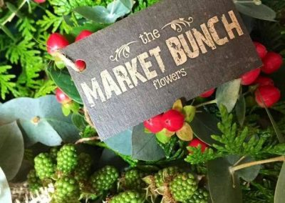 the market bunch swing tag logo hole punch kraft stock florist tag printed tag design marion